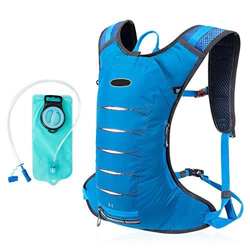 Phy Fahrradrucksack Radfahren Trinkrucksack Sporttasche Mit 2L Wasserblase Perfekt Für Outdoor Trekking Wandern Camping Reisen Laufen Blue