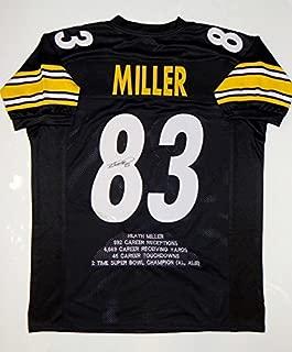 Autographed Heath Miller Jersey - Black Pro Style Stat Witnessed Auth - JSA Certified - Autographed NFL Jerseys