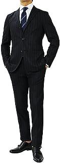 【アウトレット品】 ボリオリ 国内正規品 DOVER ストライプ柄 ウール 3釦段返り スーツ