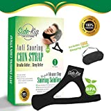SideKiq Premium 2 in 1 Anti Snoring Chin Strap w/Free Sleeping Mask Bundle- Adjustable Chin Strap - Eye Mask- Advanced Comfort Material