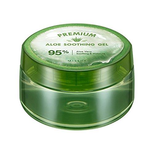 Missha - Aloe Soothing Gel 95-95% Aloe Vera Gel - Gesichtspflege für Frauen und Männer