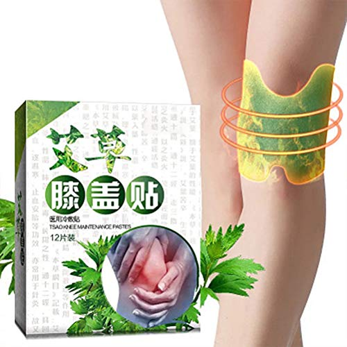 Knie-Patch der Schmerzlinderung, 12 stücke Knie Moxa Hot Moxibustion Pflaster Bein Schmerzlinderung, Wermut Aufkleber Selbsterhitzung Erwärmung Meridiane Patches Pflaster, Kniegelenkschmerzen Ischias
