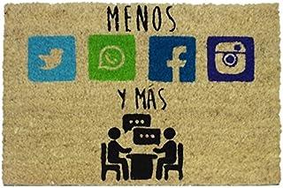 koko doormats felpudos Entrada casa Originales, Fibra de Coco y PVC, Felpudo Exterior MÁS Y Menos, 40x60x1.5 cm   Alfombra...