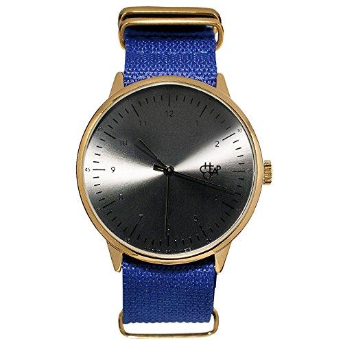 Cheapo Harold Royal Blau/Schwarz Armbanduhr w/Nylon Gurt