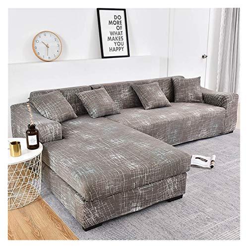 ZIJ Cubierta de sofá Cubierta de sofá geométrico Cubierta de sofá elástica para Sala de Estar Mascotas Corner L Caja con Forma de sofá Longue Sofá 1pc (Color : Color 16, Talla : 2seater and 3seater)