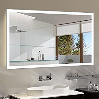 D-HYH 55 x 36 in Horizontal Dimmable LED Bathroom Mirror with Anti-Fog and Bluetooth Function (DK-D-N031-T)