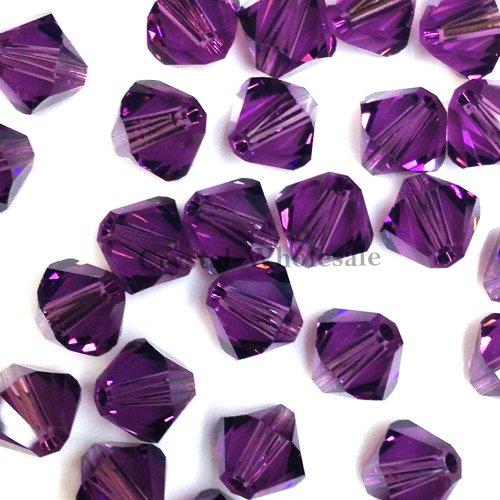 5328/53016mm con Cristalli Swarovski Ametista (204) Genuine Loose bicono Perline * * Spedizione Gratuita da Mychobos (Crystal-Wholesale) * *