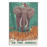 Vintage Poster ERB Tarzan Web Leinwand Kunst Poster