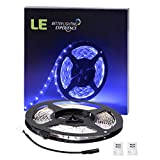 LE  16.4ft 12V Flexible LED Strip Lights, Blue, 82 Lumens / 1.5 Watts per foot,...