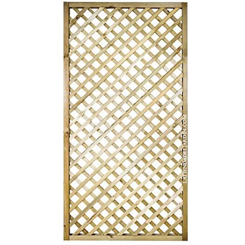 Suinga PANEL DE CELOSIA recto 90x180 CM, cuadros 4 cm. Altamente decorativo, alcanzando la ocultación o delimitación deseada en su jardín, terraza, etc.