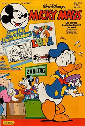 Micky Maus Zeitschrift - Nr. 42 - Vom 08.10.1987 - Komplett mit den Heft-Extras