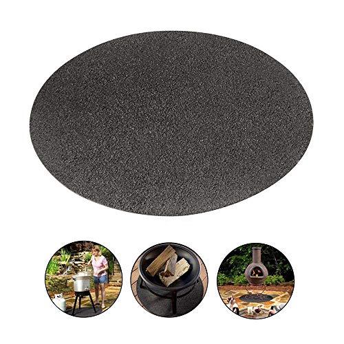 YanFeng Tapis de barbecue en fibre de polyester résistant à l'huile et PVC - Accessoires réutilisables - 91 cm x 91 cm