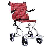 TWL LTD-Wheelchairs Rollstuhl Faltbarer Aluminium-Leichtgewichtler Old Man Manual Disabled Aircraft Travel 40Cm Wide -