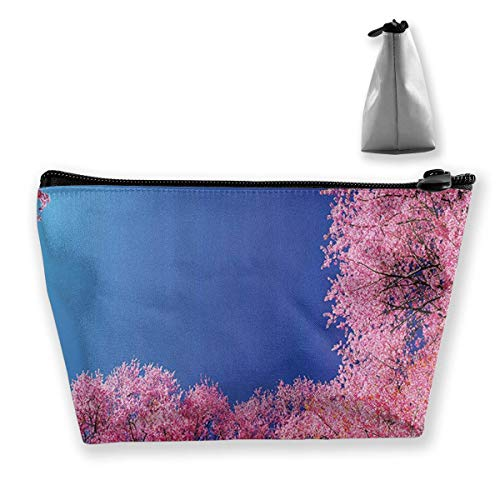 Cherry Blossom with Clear Sky Cosmetic Makeup Bag/Pouch/Clutch Travel Case Organizer Storage Bag for Women¡¯s Accessories Toiletry Beauty,Skincare Travel Accessory
