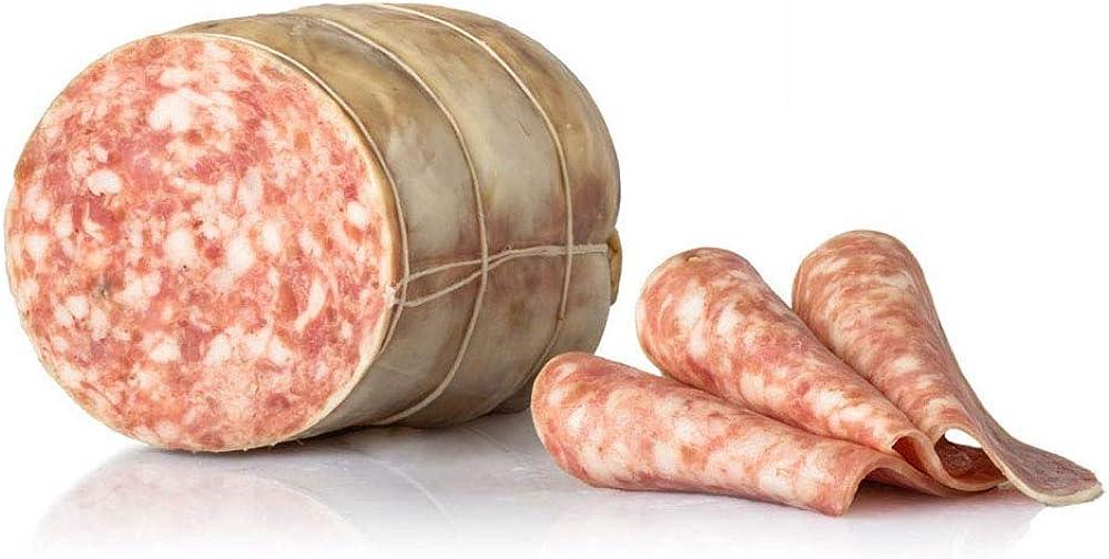 Salumi pasini salame cotto al vapore 100% carne italiana senza glutine e lattosio 1 kg