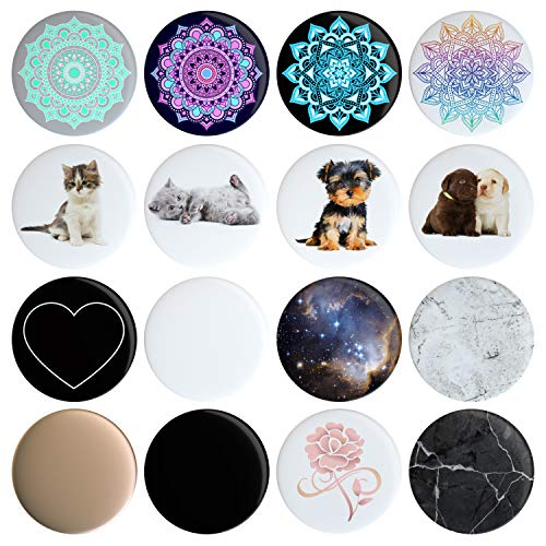 16 Swappable Covers Compatible with Original PopSockets (PopSocket Sold Separately) Put a...