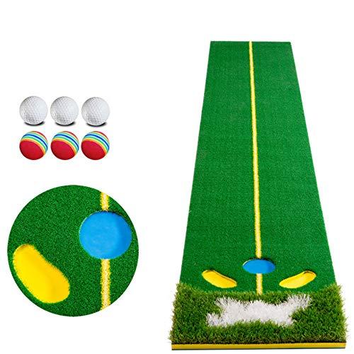 WXS Golf Que Pone La Estera Simulador De Golf Profesional Alfombra De Entrenamiento De Los Equipos Auxiliares Poniendo Conjunto con La Bandera Y El Juego Básico Conveniente para El Hogar/Oficina
