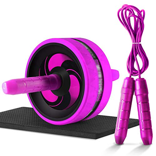 XHHWZB Ab Roller Wheel Abs Abdominal & Stomach Exercise Training Knee Pad-BEST Core&Abs Workout Home&outdoor