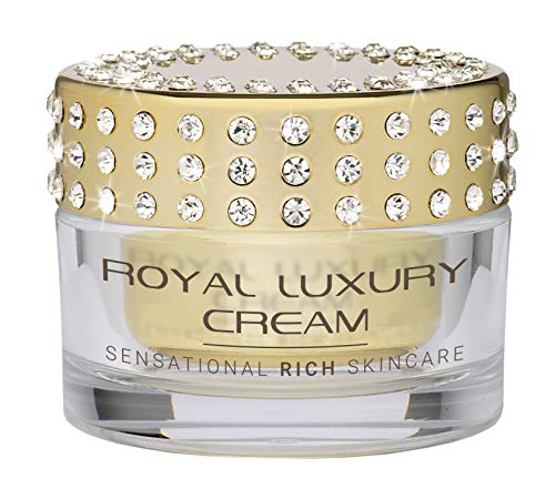 ROYAL LUXURY CREAM High Level Anti Aging | Luxuskosmetik | für straffe, glatte Haut an Gesicht, Hals | hochedle Wirkstoffe | Kaviar-, Austern-, Chardonnay- extrakt, Diamantpulver, Goldschimmer (50ml)