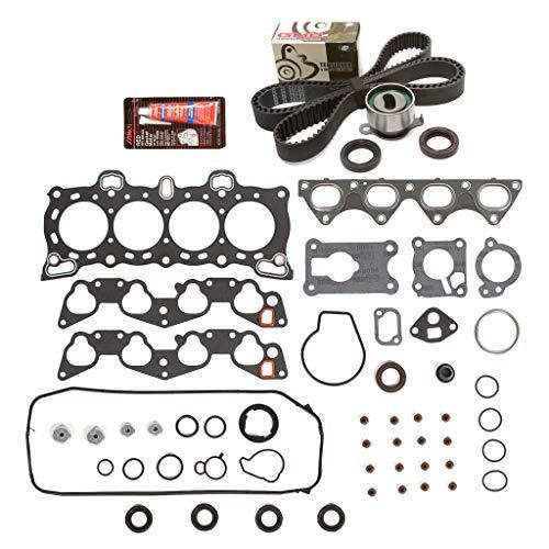 Evergreen HSTBK4026 Head Gasket Set Timing Belt Kit Compatible with/Replacement for 88-91 Honda Civic D15B1 D15B2 D15B6 D15B7