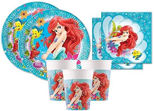 Procos Ariel - Kit de cumpleaños para niña, diseño de Sirena, para...