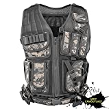 N\C Tactical Vest Military Vest Combat Training Vest Ultra-Light Breathable Tactical Vest for Outdoor Sports … (Gray Camouflage)