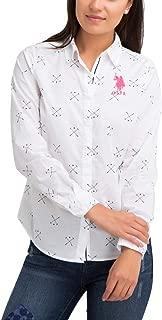 U.S. Polo Assn. Womens Long Sleeve Printed Mallot Poplin...