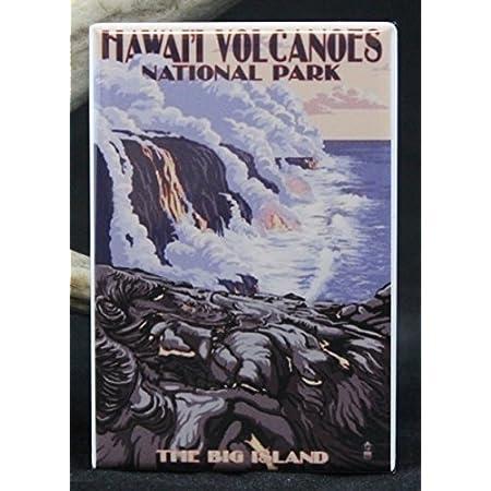 "Vintage Retro Travel Lassen Volcanic National Park Photo Fridge Magnet 2/""x3/"""