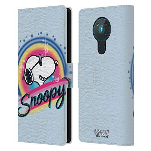 Head Case Designs Licenciado Oficialmente Peanuts Gafas de Sol Coloridas Aerógrafo Snoopy Boardwalk Carcasa de Cuero Tipo Libro Compatible con Nokia 5.3