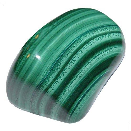 Preisvergleich Produktbild Malachit Handschmeichler ca. 71-80 Gramm SUPER A*Qualität schöne Farbe und Maserung (4630)