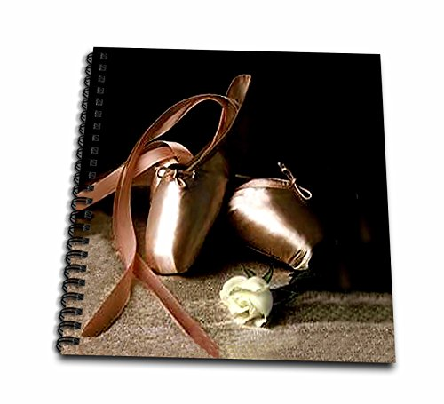 3dRose db_914_1 Ballet Slippers - Drawing Book, 8 by 8-inch, Multicolor