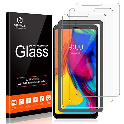 MP-MALL - Protector de pantalla para LG Stylo 5 (3 unidades, dureza 9H de vidrio templado, fácil instalación)