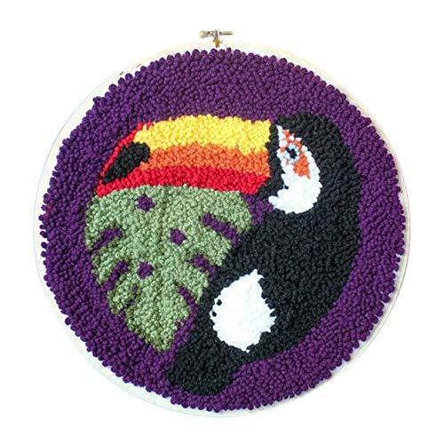 Yamix - Kit de ganchos, para niños y adultos, kit de bordado de lana para principiantes, diseño de zorro, Bird, 1