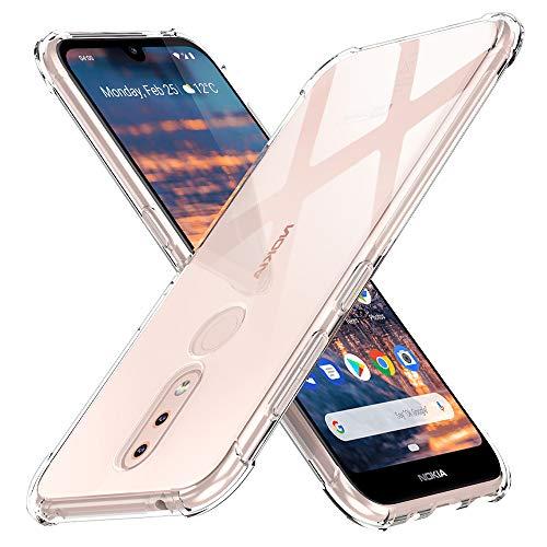 Peakally Nokia 4.2 Hülle, Soft Silikon Dünn Transparent Hüllen [Kratzfest] [Anti Slip] Durchsichtige TPU Schutzhülle Hülle Weiche Handyhülle für Nokia 4.2-Klar