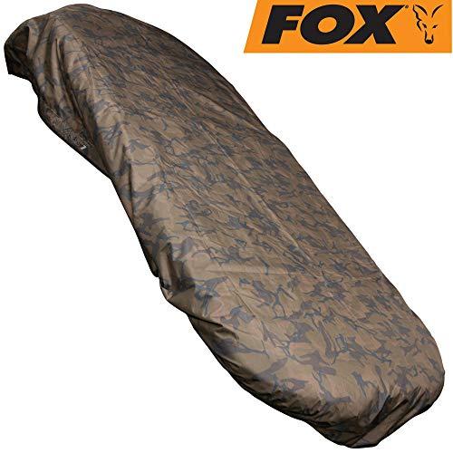 Fox Camo VRS1 Cover 140x234cm - Wasserdichte Abdeckung für Karpfenliege, Schutzhaube für Angelliege zum Karpfenangeln, Schutzdecke