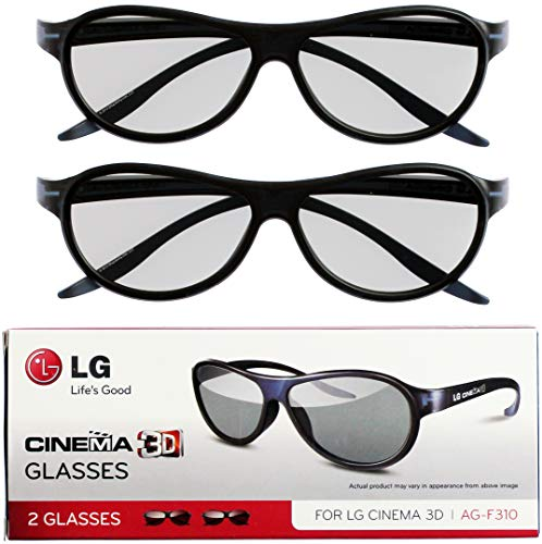 top rated LG Cinema 3D Glasses AG-F310 2012 New Model 2 Pair Black 2020
