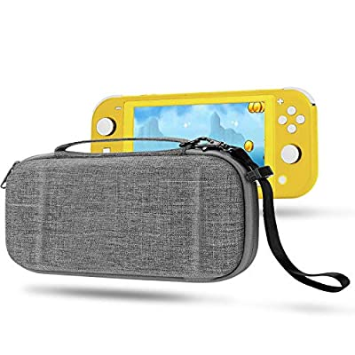 Compatible with Switch Lite Case EVA Protective Carrying Case for Switch Lite Cover Video Game Accessories for Nintendo Switch Lite Gifts for Men Husband Kids Teens (GrayWhite)