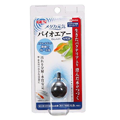 ジェックス メダカ元気 バイオエアー丸型20 バクテリア活着エアーストーン 酸素供給 水をきれいに メダカ飼育用