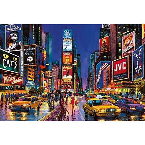 New York Vierkante Art Puzzle 500/1000/1500/2000/3000/4000/5000/6000 stuks Home Decoration houten puzzel, Educatief speelgoed spel voor volwassenen en kinderen,500PCS