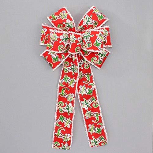 8' x 16' Bow Only boB Stocking Snow Edge Wreath Bow - Wreath Bow, Bow, Wreath Bow