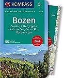 KOMPASS Wanderführer Bozen, Sarntal, Ritten, Eppan, Kalterer See, Seiser Alm, Rosengarten: Wanderführer mit Extra-Tourenkarte 1:45.000, 55 Touren, GPX-Daten zum Download.