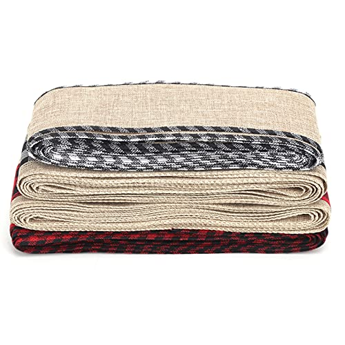 Cintas para manualidades, cinta ancha para manualidades de tela de arpillera, 100% arpillera, colores naturales suaves para decoración de restaurantes