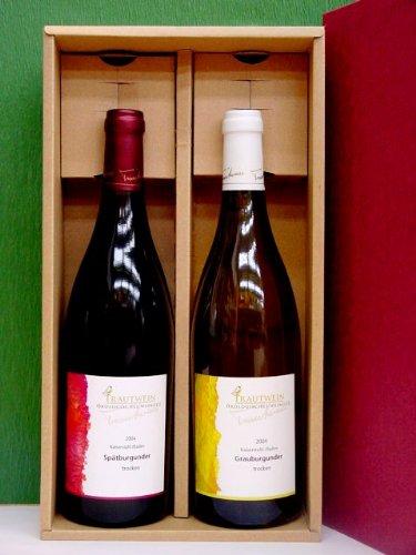 有機無農薬栽培【トラウトワイン】赤&白2本セット Q.b.A. trocken 750ml  ドイツワイン