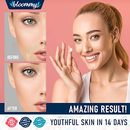 51kOOGEFGeL - Collagen & Retinol Cream for Face with Hyaluronic Acid - Collagen Anti Aging Cream - Retinol Moisturizer for Face - Made in USA - Anti Wrinkle Facial Cream - Day & Night Moisturizer for Face
