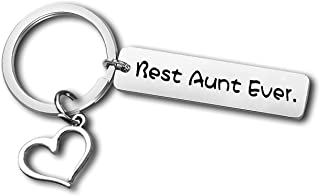 Best Aunt Gift from Niece Nephew Aunt Keychain Auntie Jewelry Appreciation Gift Thank You Keyring Birthday Gift for Auntie...