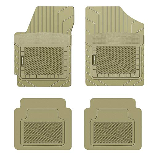 PantsSaver Custom Fit Automotive Floor Mats for Land Rover Discovery Sport 2021 All Weather Protection for Cars, Trucks, SUV, Van, Heavy Duty Total Protection Tan
