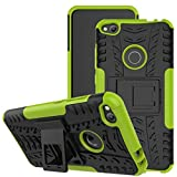 Jhxtech Huawei P8 Lite 2017 Case, [Kickstand] [Heavy Duty