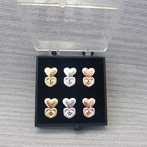 XINTIAN 14 Styles Hypoallergenic Earring Lifter Fits All Earlobe Stud Back Nut Lift Support Post Earrings For Women (Color : 4, Size : 14mm)