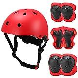 Lixada Casco y Protecciones para Niños Ajustable Kit de Rodilleras Muñequeras Coderas y Casco para Patinaje Ciclismo Monopatín Skate Deporte