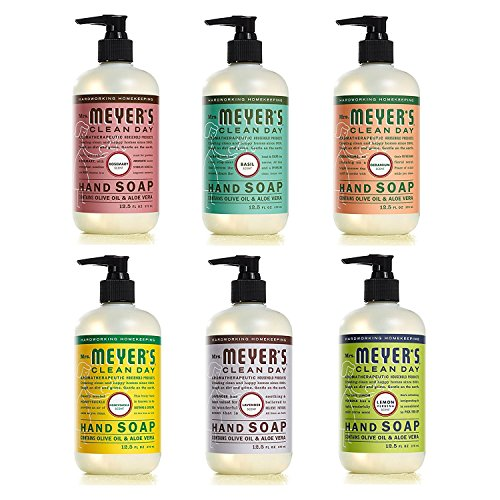 Mrs. Meyer's Clean Day Liquid Hand Soap, 12.5 Oz Each, Pack of 6